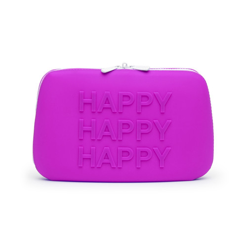 Buy the Happy Rabbit HAPPY Large Silicone Lockable Storage Case with Zipper in Fuchsia Pink - LoveHoney