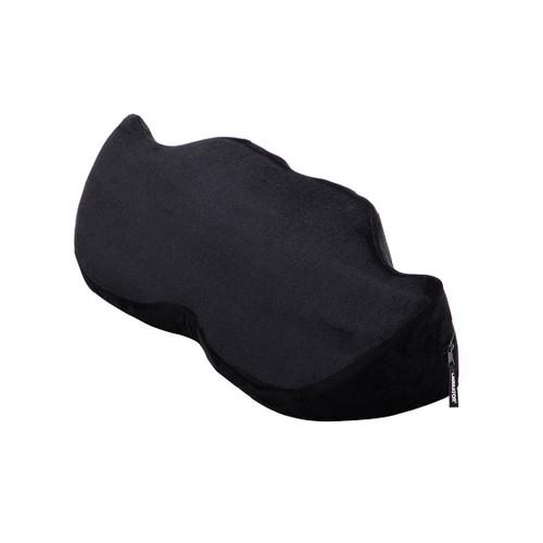 Buy the Mustache Wedge Sex Positioning Cushion Black Microvelvet - Liberator Luvu Brands