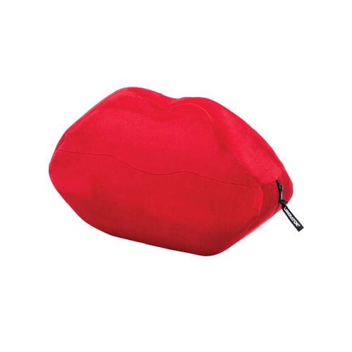 Buy the Kiss Lips  Wedge Sex Positioning Cushion Red Microvelvet - Liberator Luvu Brands