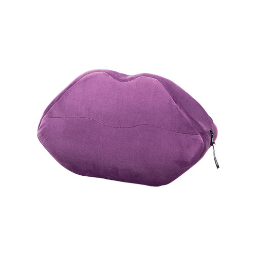 Buy the Kiss Lips  Wedge Sex Positioning Cushion Purple Microvelvet - Liberator Luvu Brands