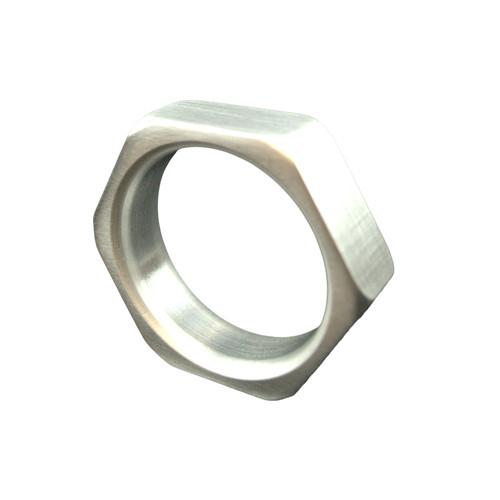 Buy the Cock-Nut Billet Aluminum Hex-shaped Cock Ring - Ballistic Metal
