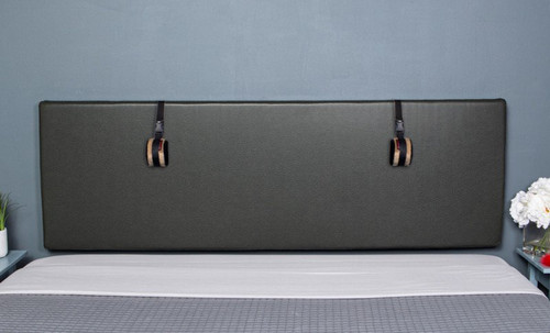 Buy the The Grid Convertible King Size Bondage Headboard Premium Black Faux Leather with D-rings - Liberator Luvu Brands