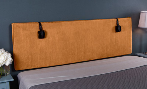 Buy The Grid Convertible King Size Bondage Headboard Plush Butternut Microvelvet with D-rings - Liberator Luvu Brands