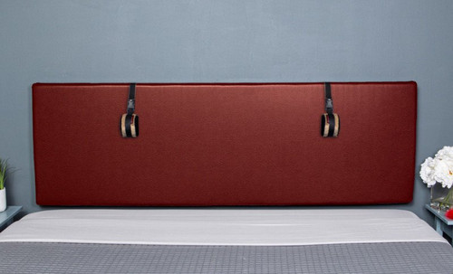 Buy The Grid Convertible King Size Bondage Headboard Premium Claret Faux Leather with D-rings - Liberator Luvu Brands