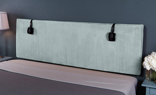 Buy The Grid Convertible King Size Bondage Headboard Plush Ice Blue Microvelvet with D-rings - Liberator Luvu Brands