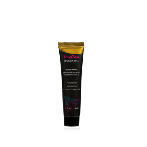 Buy the PrePair Spermicidal Water-based Lubricant with 1% NONOXYNOL-9 in .5 oz Tube -  ForPlay