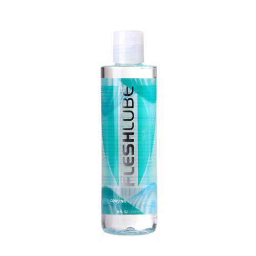 Buy the Fleshlube Ice Water-based Cooling Lubricant Paraben-free USA made in 8 oz or 237 ml - Interactive Life Forms FleshLight