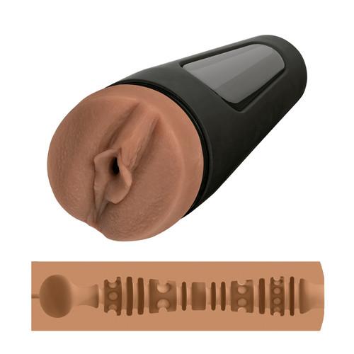 Buy the Main Squeeze Honey Gold's Vagina Variable Pressure UltraSkyn Realistic Stroker  Male Masturbator - Doc Johnson