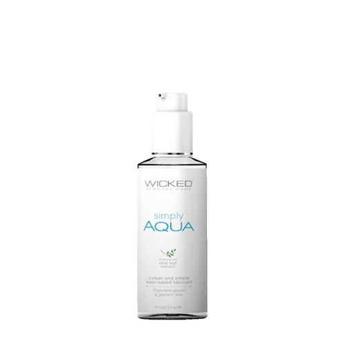 Buy the Simply Aqua Fragrance-Free Water-based Liquid Lubricant in 2.3 oz - Wicked Sensual Care