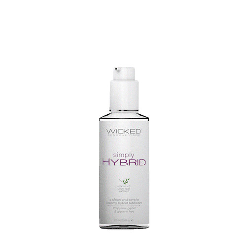 Buy the Simply Hybrid Fragrance-Free Silicone/Water-based Creamy Liquid Lubricant in 2.3 oz - Wicked Sensual Care