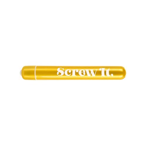 Buy the Naughty Bits Screw It 10-function Powerful Slim Personal Vibrator - Cal Exotics