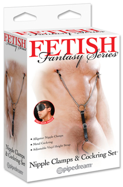 Fetish Fantasy Series Cockring with Nipple Clamps