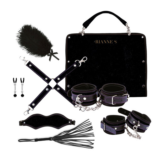 Buy the Kinky Me Softly Bondage Kit with Bag in Black - Rianne S