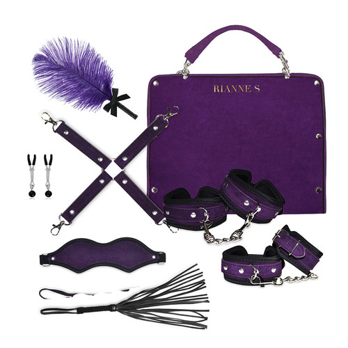 Buy the Kinky Me Softly Bondage Kit with Bag in Purple - Rianne S
