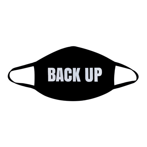 Buy the BACK UP White Glitter Black Face Dust Mask With Black Trim PPE Personal Protective Equipment - Neva Nude