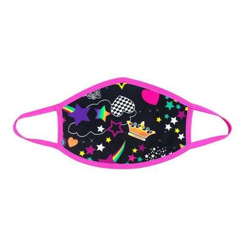 Buy the Girl Crush Neon UV Pink Face Dust Mask With Pink Trim BLACKLIGHT REACTIVE PPE Personal Protective Equipment - Neva Nude