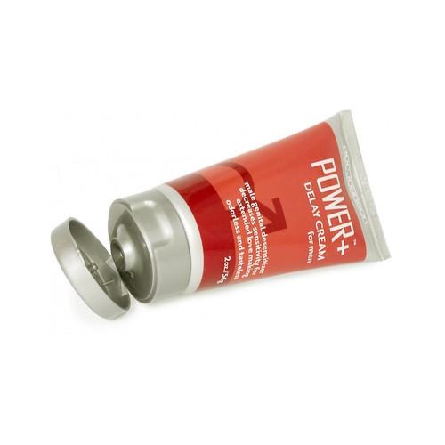 Buy the Power+ Plus Cream Delay Cream for Men with 7.5% Benzocaine in 2 oz tube - Doc Johnson