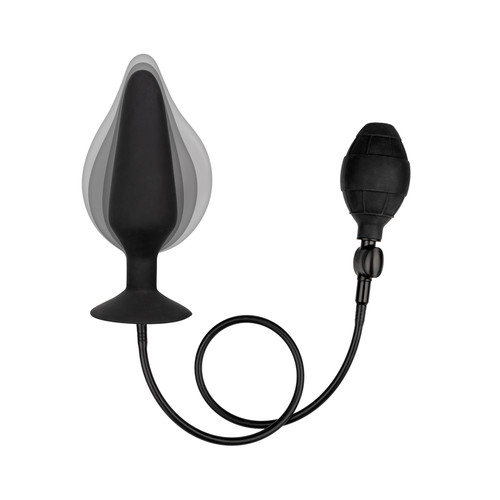 Buy the COLT XXXL Pumper Inflatable Silicone expanding Anal Probe Butt Plug with Detachable Hose in Black - Cal Exotics
