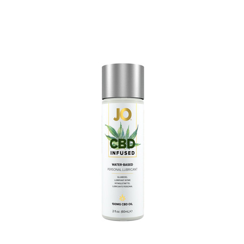 Buy the 100mg CBD-infused Coconut Water-based Personal Lubricant 2 oz - System JO