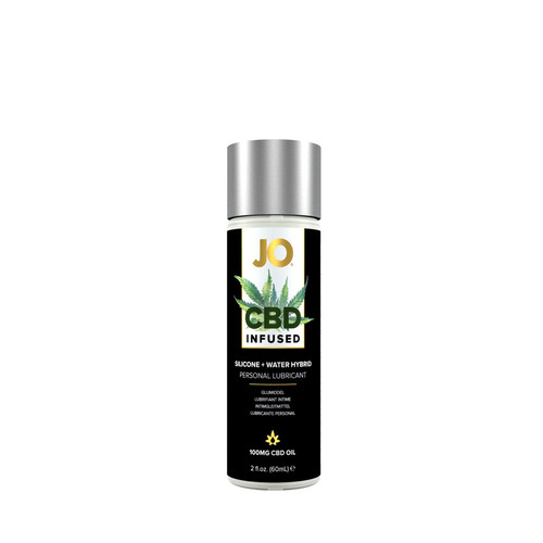 Buy the 100mg CBD-infused Coconut Hybrid Silicone/Water-based Personal Lubricant 2 oz - System JO
