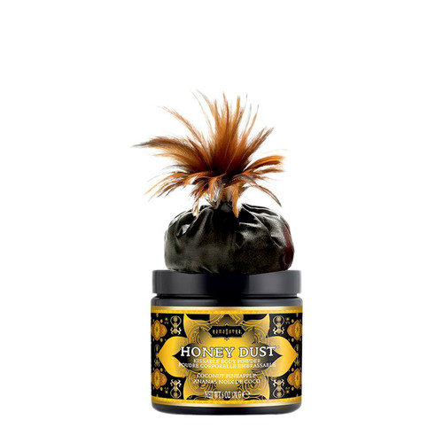 Buy the Honey Dust Body Powder with Feather Applicator in Coconut Pineapple 6 oz Kissable - Kama Sutra