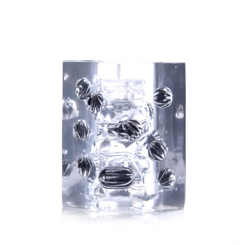 Buy the Crysta Ball Textured Clear Male Masturbator with Drying Case Reusable Stroker -  Tenga Made in Japan