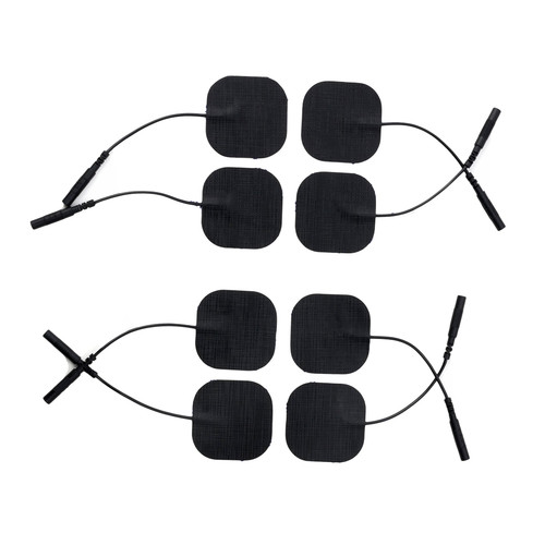 Buy the MOD Designs E/S ElectroStim Body Pads Square Self-Adhesive Cloth Electrodes 8-Pack - 665 Leather