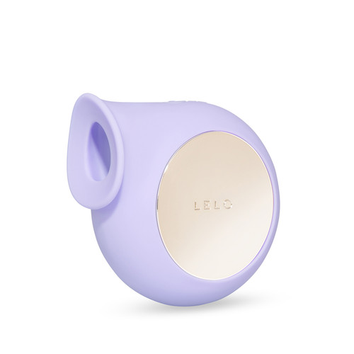 Buy the SILA 8-function Rechargeable Silicone Sonic Wave Clitoral Massager in Lilac Purple & Light Gold - LELO