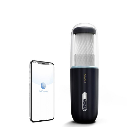 Buy the Connexion Series Neo Alex 12-function Bluetooth Interactive FeelConnect App-Controlled Rechargeable Powerful Thrusting Male Masturbator Stroker WebCam - Svakom USA
