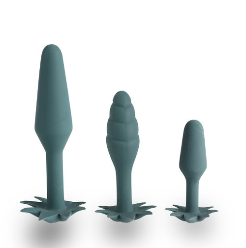 Buy the Doobies 3-piece Silicone 420 Pot Leaf Anal Trainer Set butt plugs - Maia Toys