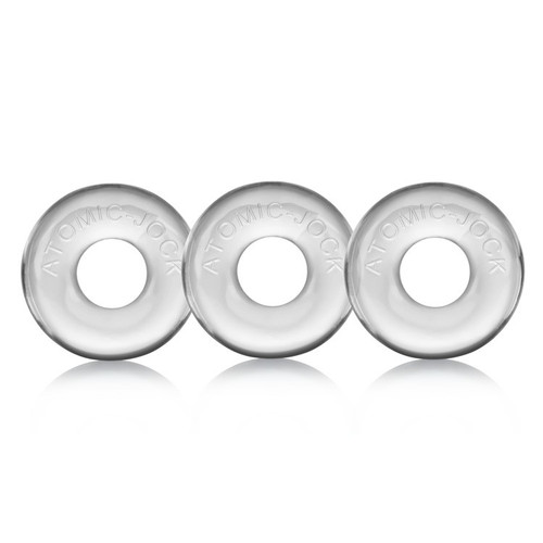 Buy the Ringer 3-pack Clear Cock Ring Set - OxBalls