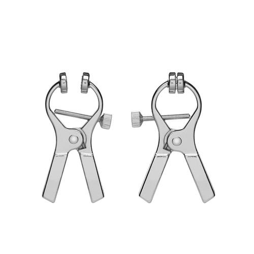 Buy the ElectraClamps Uni-Polar Genital E-Stim Clamp 2-Pack - Cyrex Ltd ElectraStim