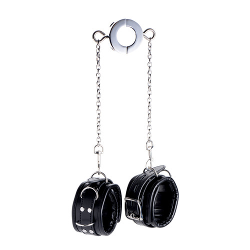 Buy the Hell's Tether Ball Stretcher Humbler with Locking Ankle Cuffs & Chains - XR Brands Master Series