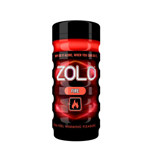 Buy the Zolo Cup Red Fire Real Feel Warming Pleasure Cup Stroker Male Masturbator