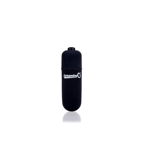 Buy the Vooom! Soft-Touch 4-FUNction Bullet Vibrator Rumbling Pulsating Mini Vibe in Black - Screaming O