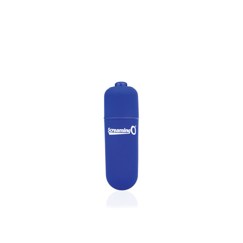 Buy the Vooom! Soft-Touch 4-FUNction Bullet Vibrator Rumbling Pulsating Mini Vibe in Blue - Screaming O