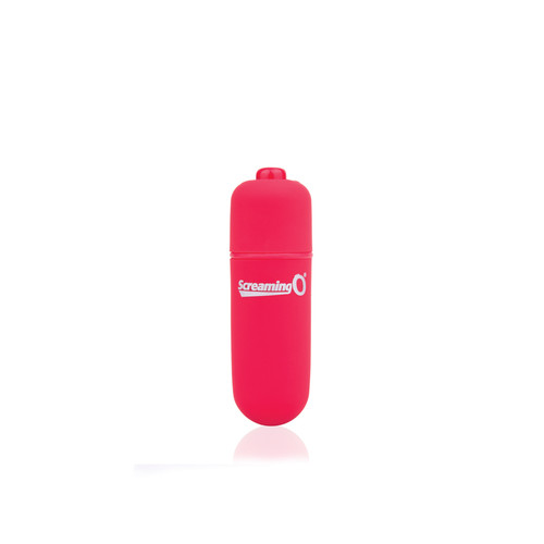 Buy the Vooom! Soft-Touch 4-FUNction Bullet Vibrator Rumbling Pulsating Mini Vibe in Red - Screaming O