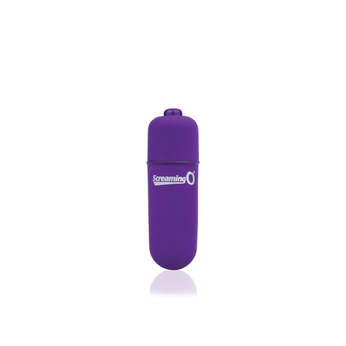 Buy the Vooom! Soft-Touch 4-FUNction Bullet Vibrator Rumbling Pulsating Mini Vibe in Purple - Screaming O