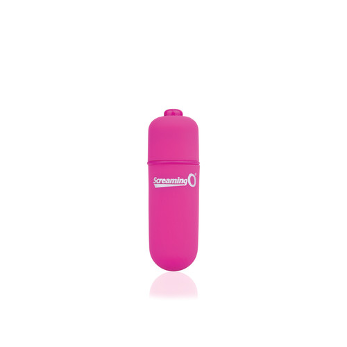 Buy the Vooom! Soft-Touch 4-FUNction Bullet Vibrator Rumbling Pulsating Mini Vibe in Pink - Screaming O
