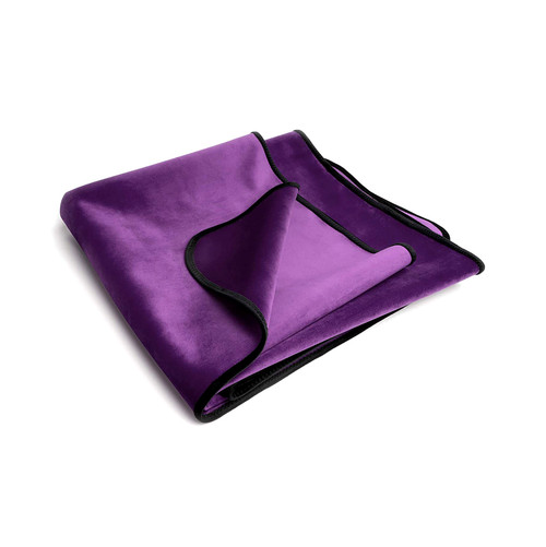 Buy the Fascinator Lush Throw Aubergine Purple Velvish Moisture-Resistant King Size Reversible Sex Blanket - OneUp Innovations Liberator