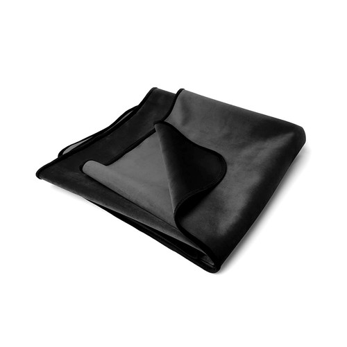Buy the Fascinator Lush Throw Midnight Black Velvish Moisture-Resistant Regular Size Reversible Blanket - OneUp Innovations Liberator