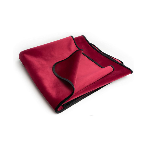 Buy the Fascinator Lush Throw Merlot Red Velvish Moisture-Resistant Regular Size Reversible Blanket - OneUp Innovations Liberator