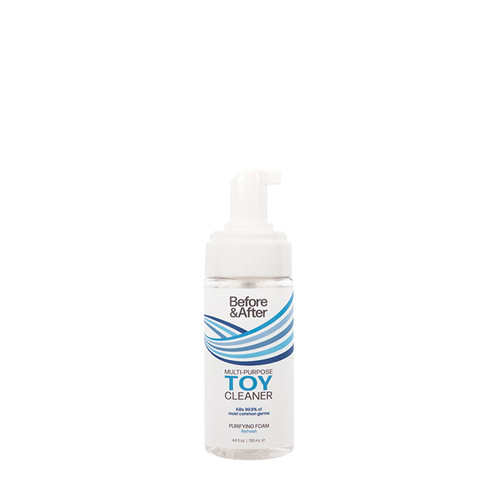 Buy the Before & After Purifying Multipurpose Foaming Toy Cleaner in 4.4 oz Pump Bottle Anti-Bacterial - Classic Erotica Brands