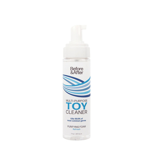 Buy the Before & After Purifying Multipurpose Foaming Toy Cleaner in 7 oz Pump Bottle Anti-Bacterial - Classic Erotica Brands