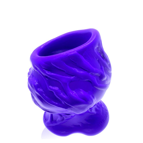 Buy the PigHole Squeal FF Fuck-Plug Hollow Platinum Silicone Tunnel Butt Plug in Eggplant Purple Ass Gape - OXBALLS