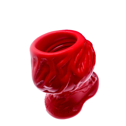 Buy the PigHole Squeal FF Fuck-Plug Hollow Platinum Silicone Tunnel Butt Plug in Blood Red Ass Gape - OXBALLS