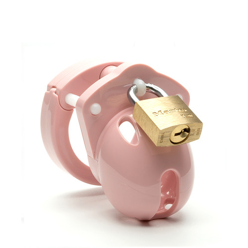 Buy the Mini Me Pink 1.25 inch Locking Male Chastity Cock Cage Kit - CB-X