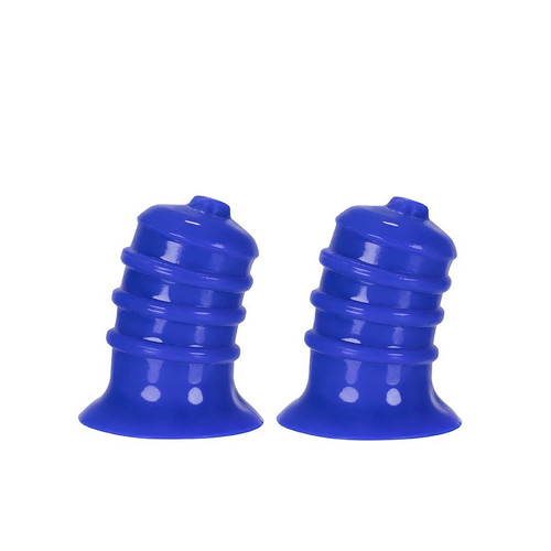 Buy the hünkyjunk ELONG Nipsuckers Curved Reinforced Wide Base Nipple Suckers 2-Pack in Cobalt Blue - Blue Ox Designs OXBALLS