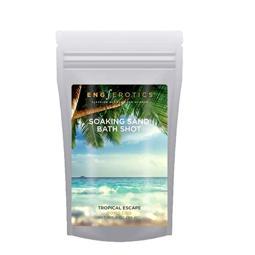 Buy the EngErotics Soaking Sand Bath Shots Tropical Escape (CBD 20mg) in 4 oz - EngErotics