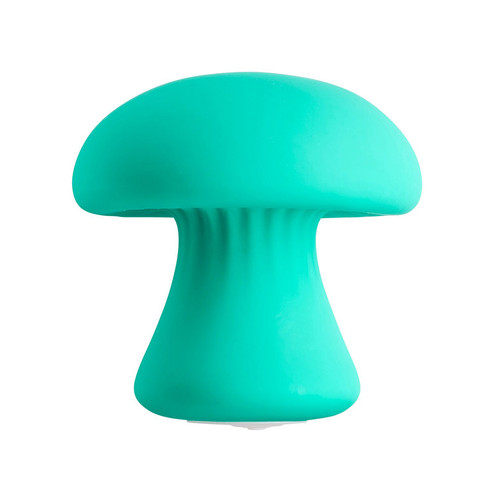 Buy the Health & Wellness Mushroom shaped 9-function Rechargeable Silicone Massager Vibrator in Teal Blue handheld - Cloud 9